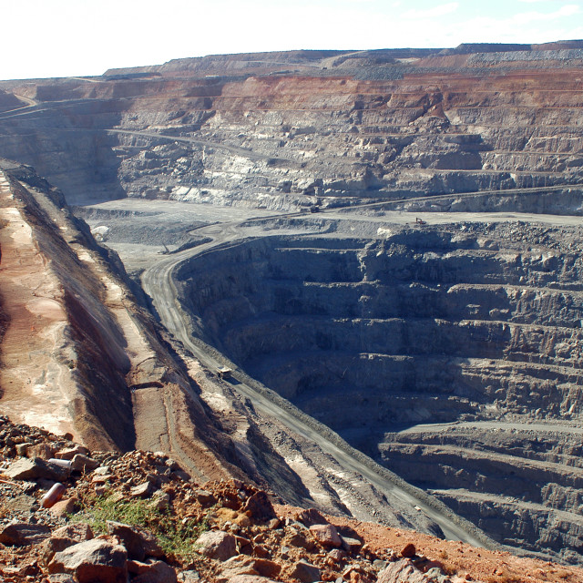 """Goldmine of Kalgoorlie"" stock image"
