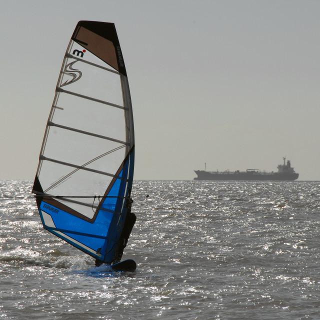 """Windsurfer"" stock image"