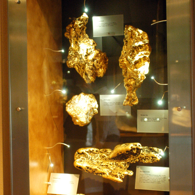 """""""The museum of the gold of Ballarat"""" stock image"""