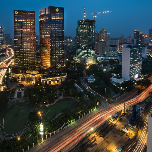 """Jakarta light stream"" stock image"