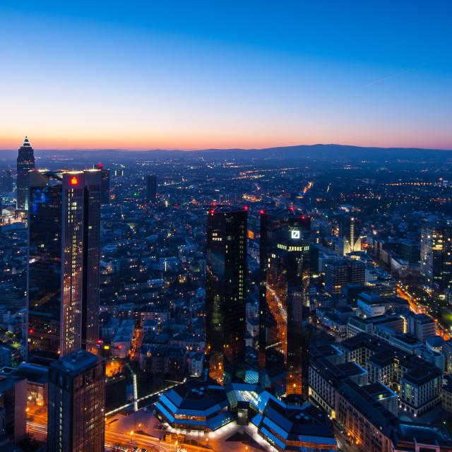 """Frankfurt cityscape"" stock image"