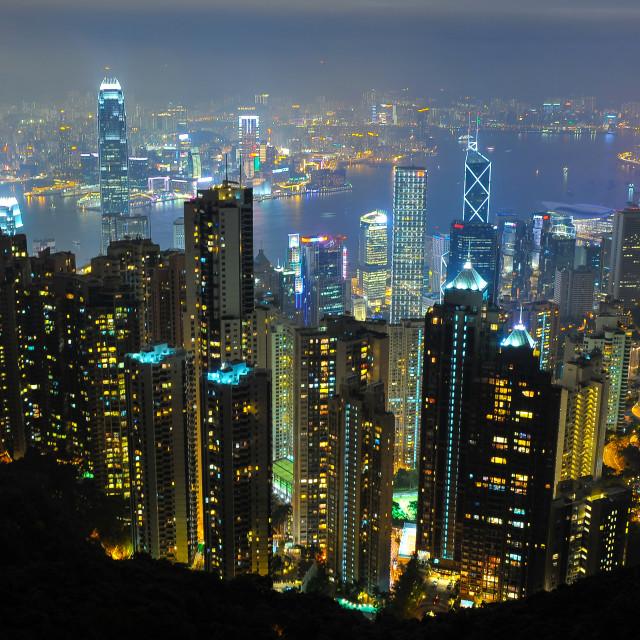 """Hello Hongkong"" stock image"