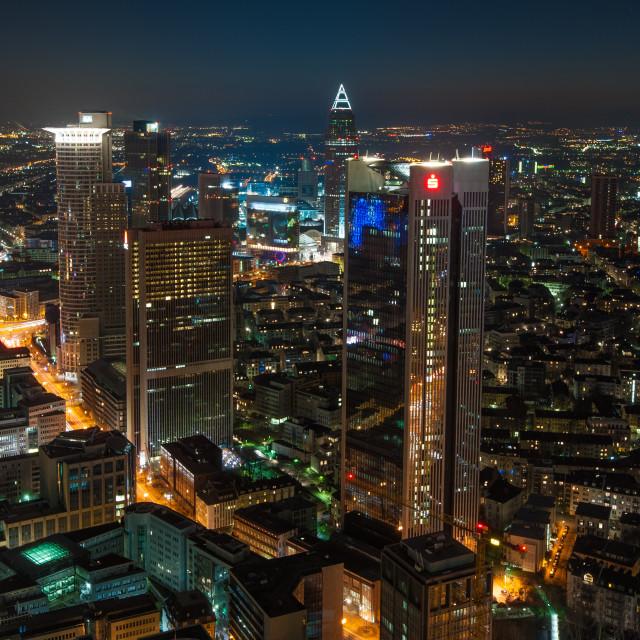 """Frankfurt in the evening"" stock image"