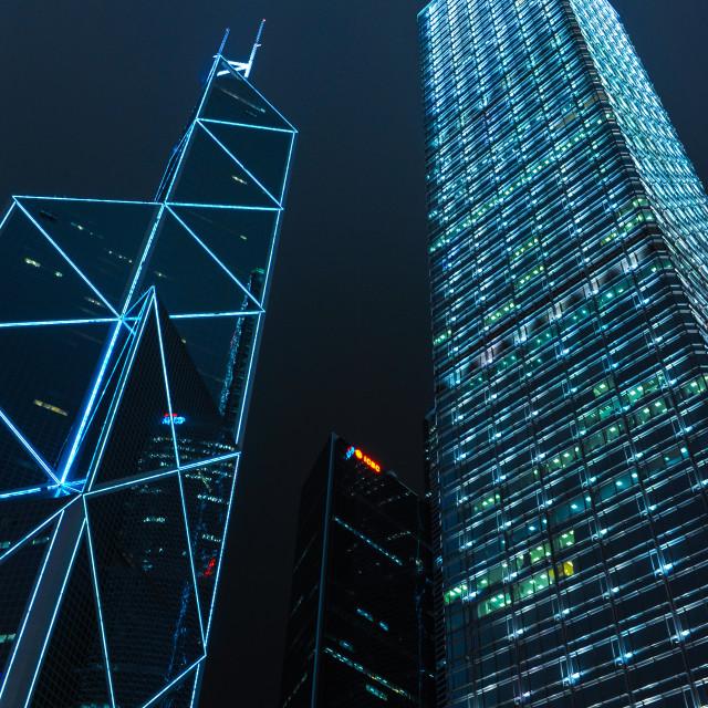 """Hongkong Skyscraper"" stock image"