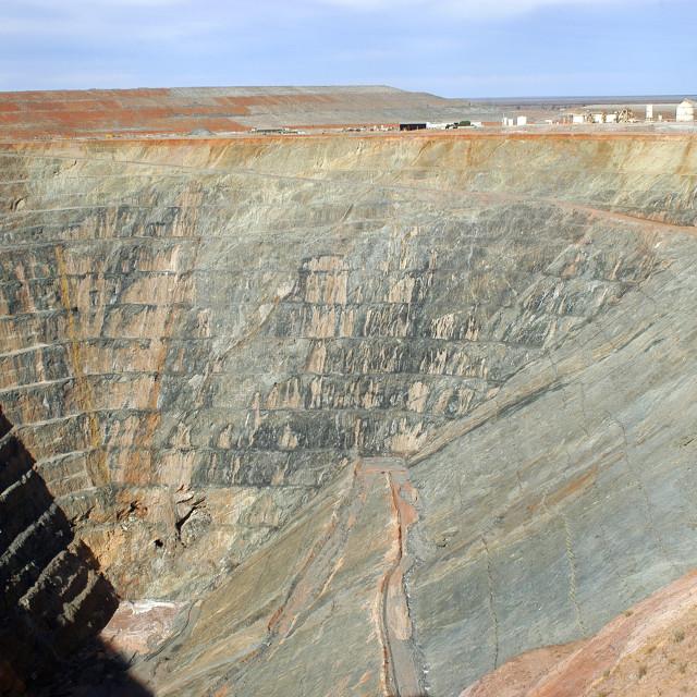 """Goldmine of Leonora in the Australia Western"" stock image"