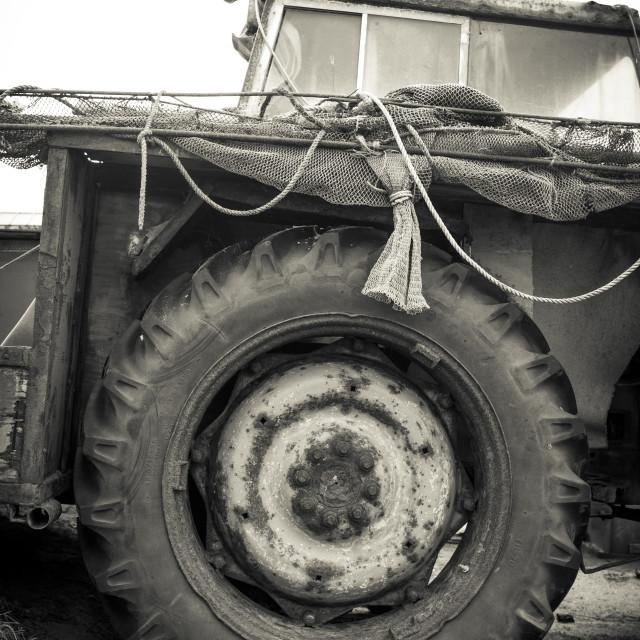 """""""Fishing/shrimping vehicle"""" stock image"""