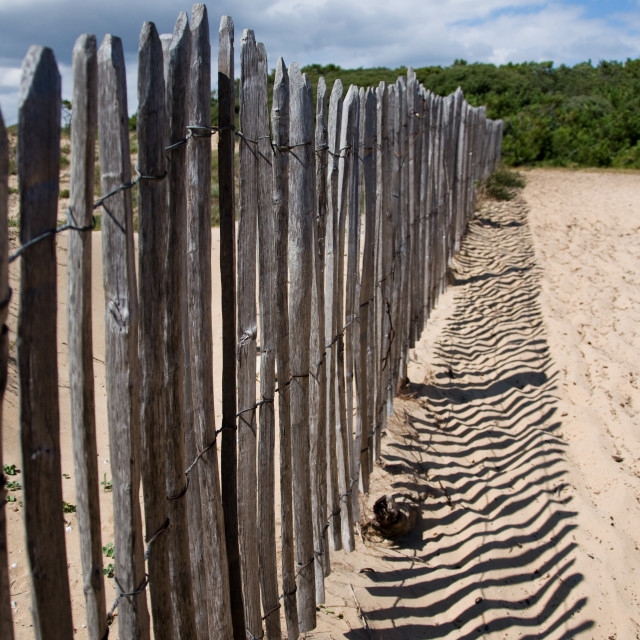 """Wooden Fence"" stock image"