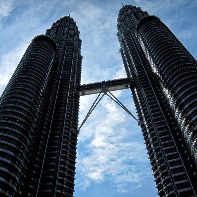 """""""Petronas Towers in Kuala Lumpur, Malaysia"""" stock image"""