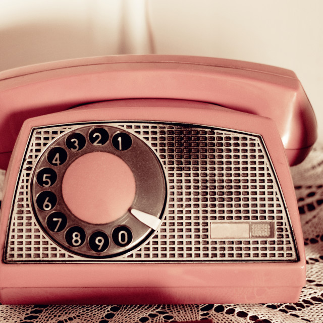 """vintage telephone"" stock image"