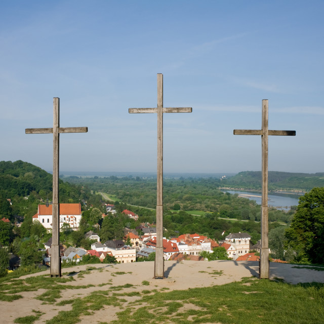 """three crosses hill"" stock image"