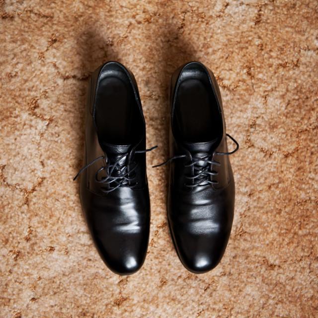 """""""elegance wedding groom boots"""" stock image"""