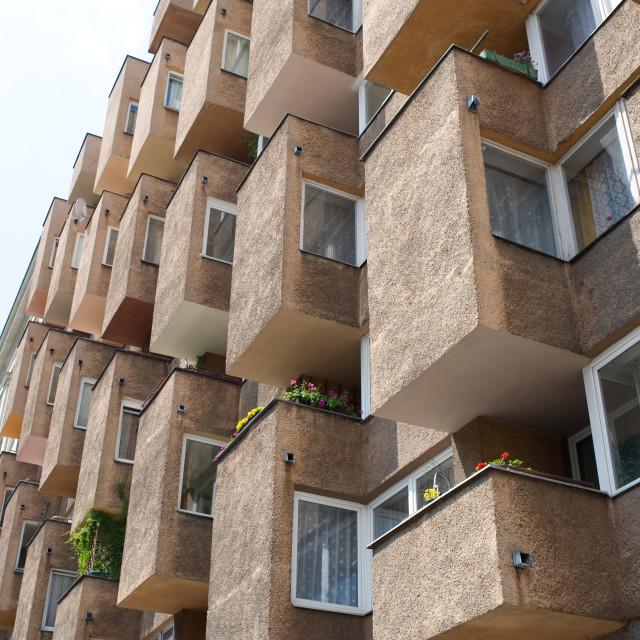 """balcony in block of flats"" stock image"