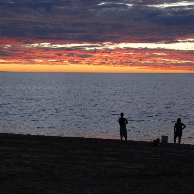 """Dreamtime Fishing"" stock image"