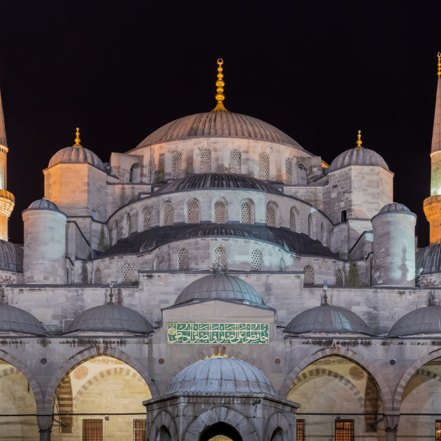 """""""Blue Mosque at Night"""" stock image"""