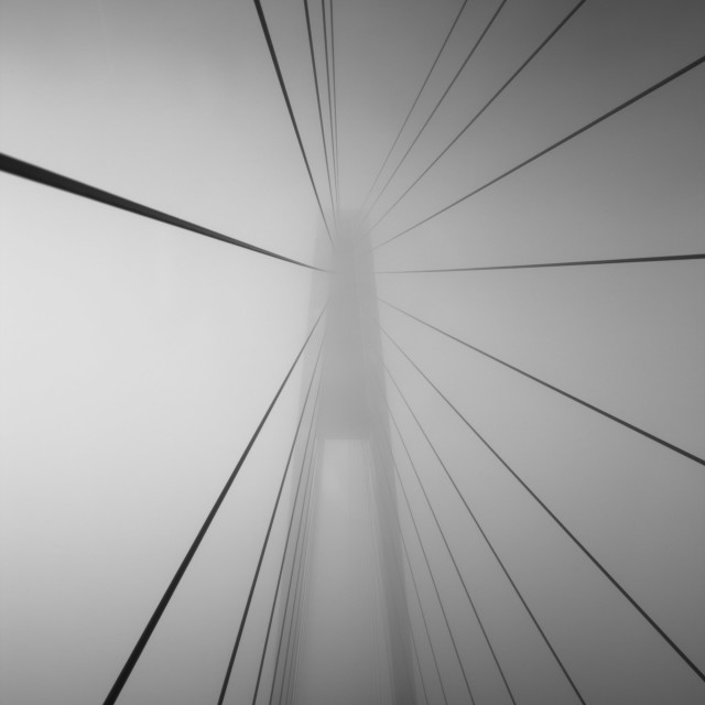 """Foggy Bridge!"" stock image"