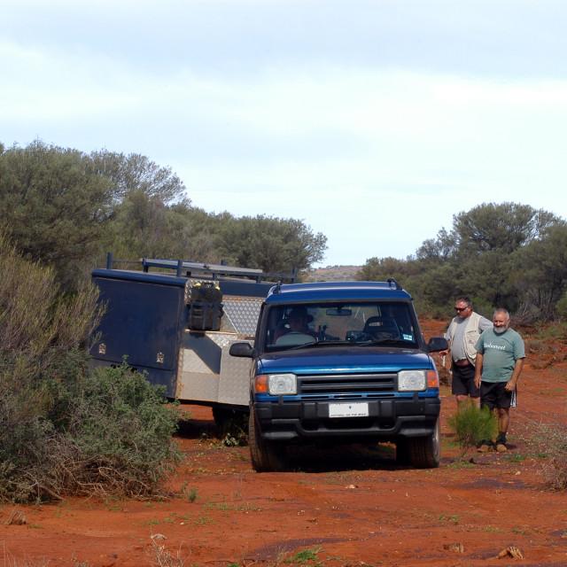 """Lost in the Australian bush"" stock image"