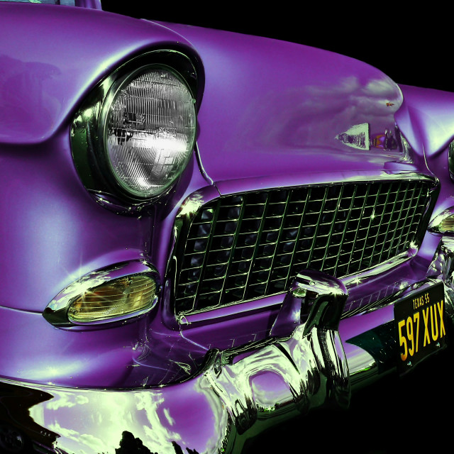 """""""American Icon 1955 Chevy"""" stock image"""