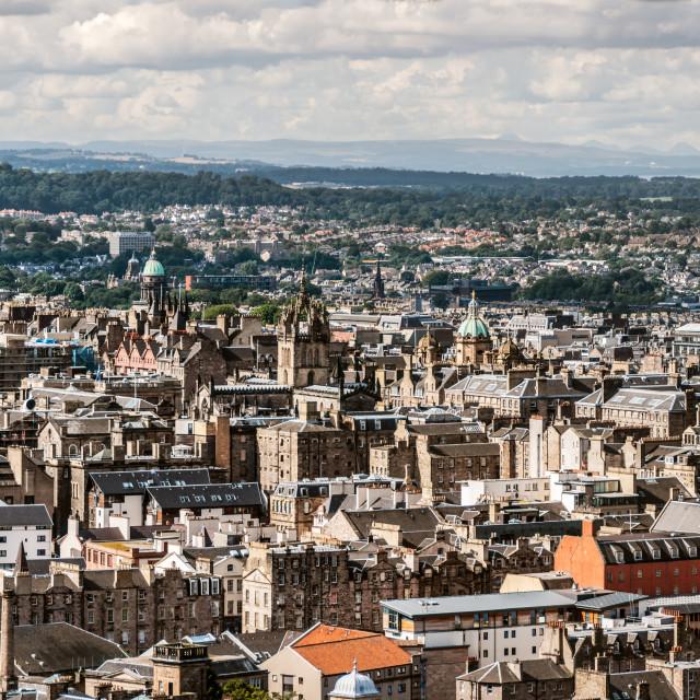 """""""Edinburgh panorama"""" stock image"""