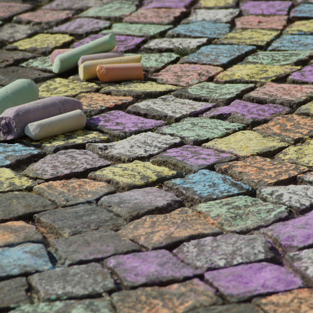 """Sidewalk chalk"" stock image"