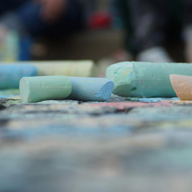 """Sidewalk chalk"" stock image"