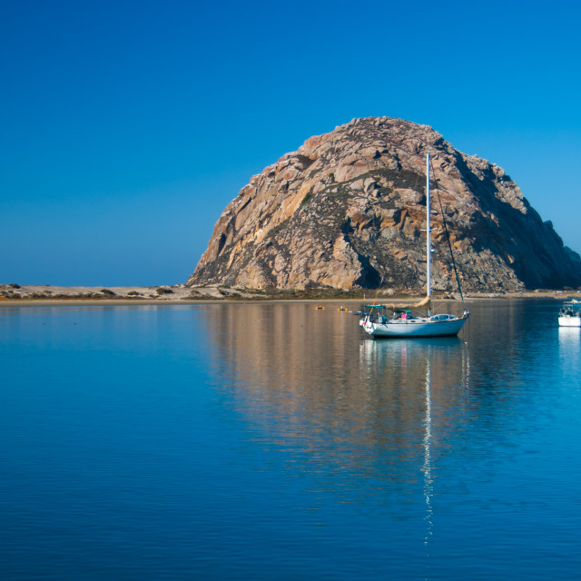 """Morro Rock, California"" stock image"