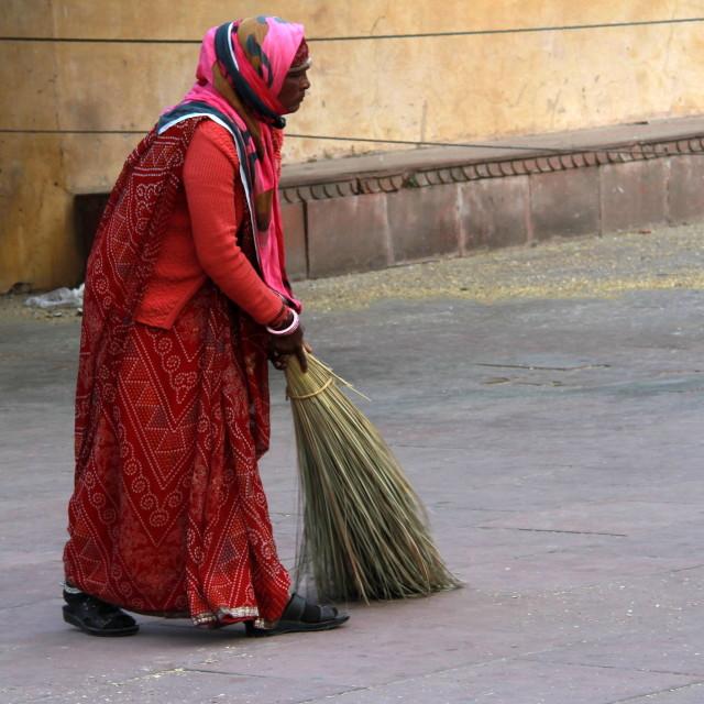 """sweeping..."" stock image"