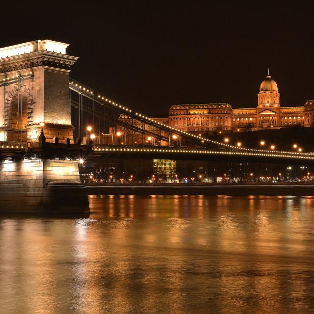 """Budapest, the Chain Bridge"" stock image"