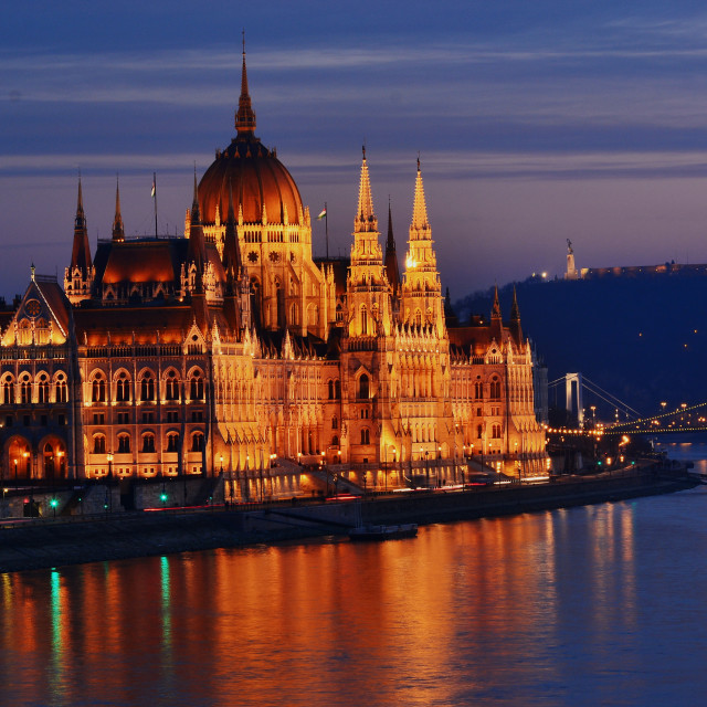"""""""Budapest, the Parliament"""" stock image"""