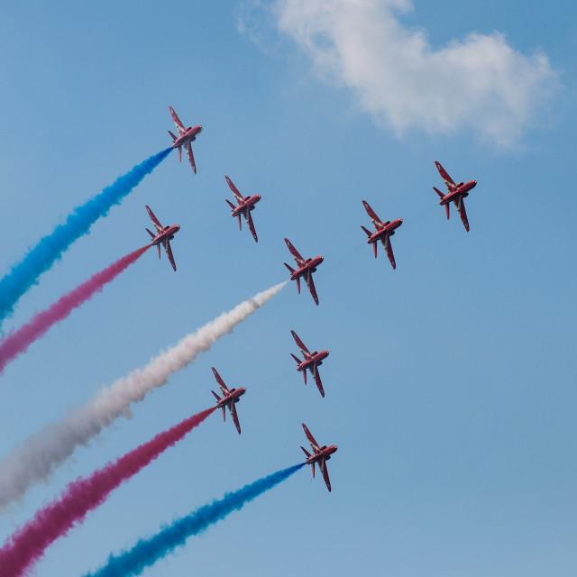 """""""Red Arrows Concorde"""" stock image"""