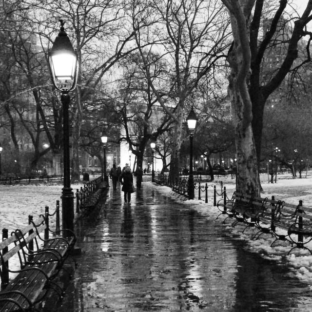 """Winter in Washington Square"" stock image"