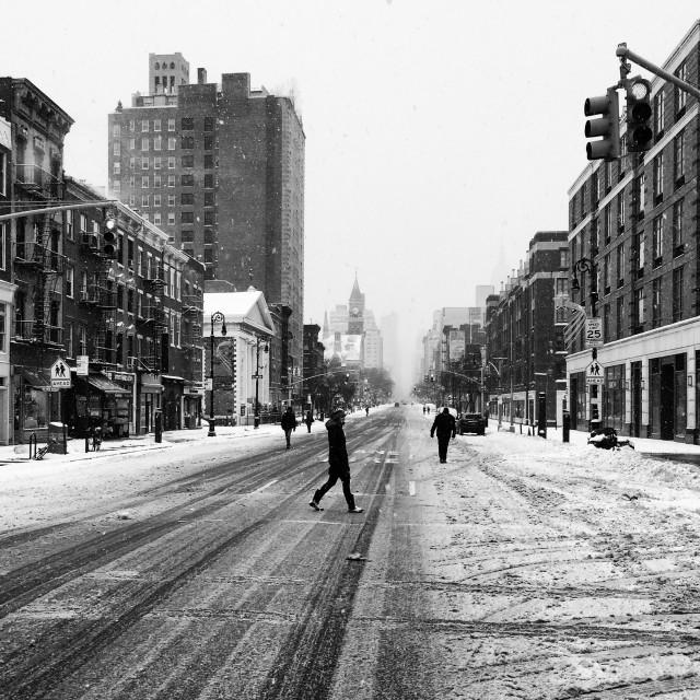 """Winter in New York"" stock image"
