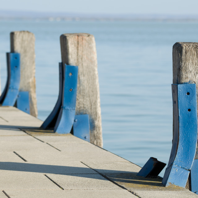 """Pier Wood Piles"" stock image"