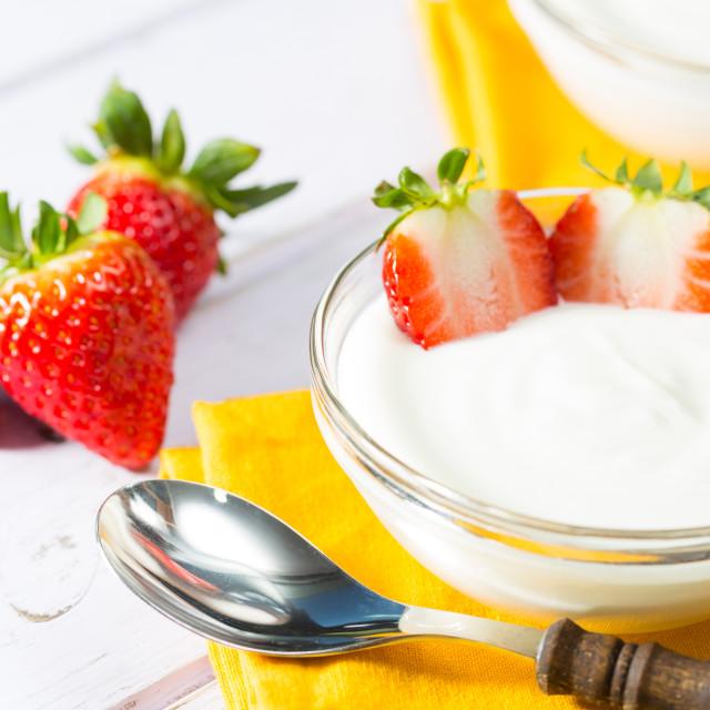"""Strawberry Yogurt"" stock image"
