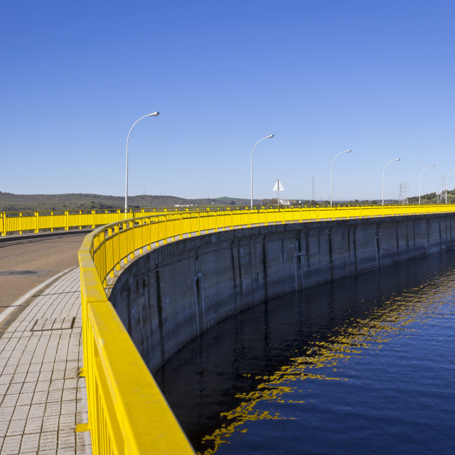 """Dam Wall of an Artificial Lake"" stock image"