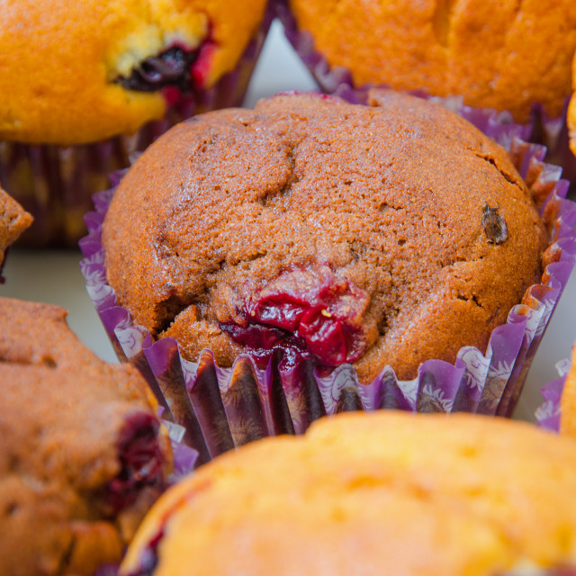 """Homemade Muffins"" stock image"