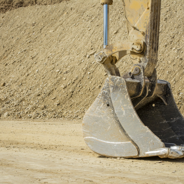 """Excavator bucket"" stock image"