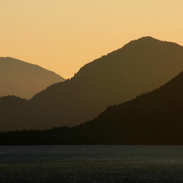 """Howe Sound Sunset"" stock image"