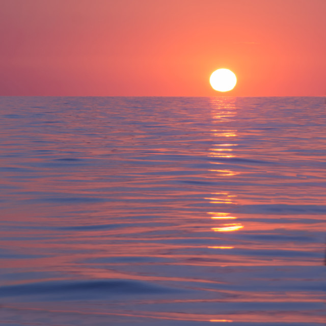 """Ocean sunrise"" stock image"