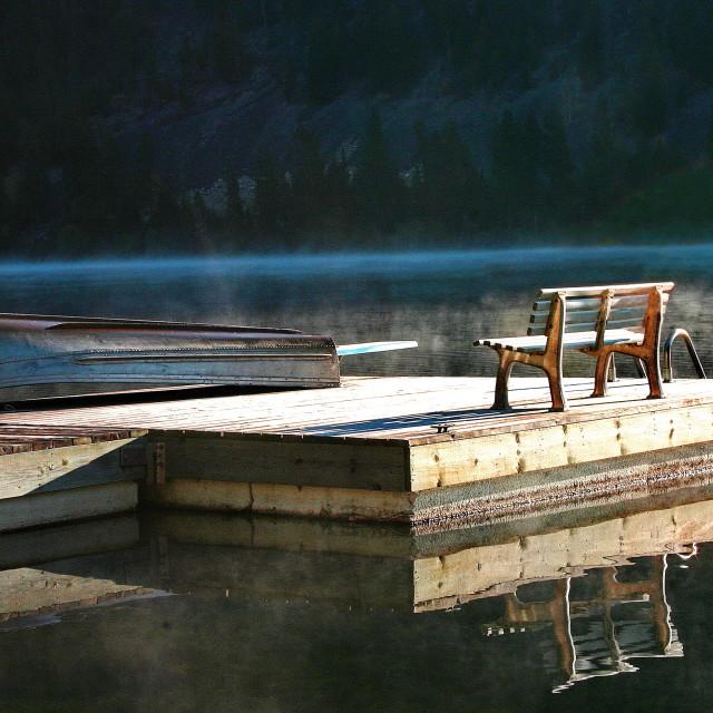 """""""Otter Lake Sunrise"""" stock image"""