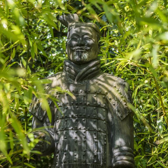 """Samurai Warrior statue"" stock image"