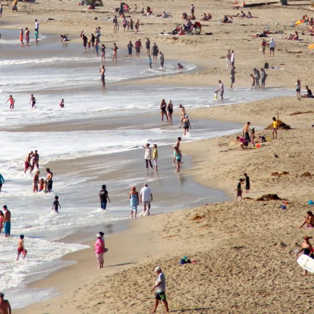 """""""Beachgoers"""" stock image"""