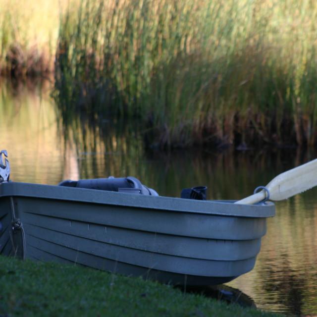 """Waiting to go Fishing"" stock image"