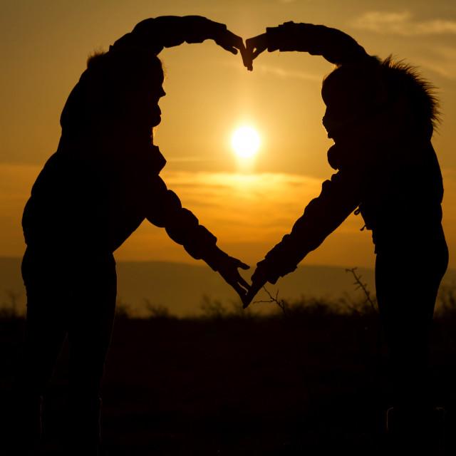 """Sunset heart"" stock image"