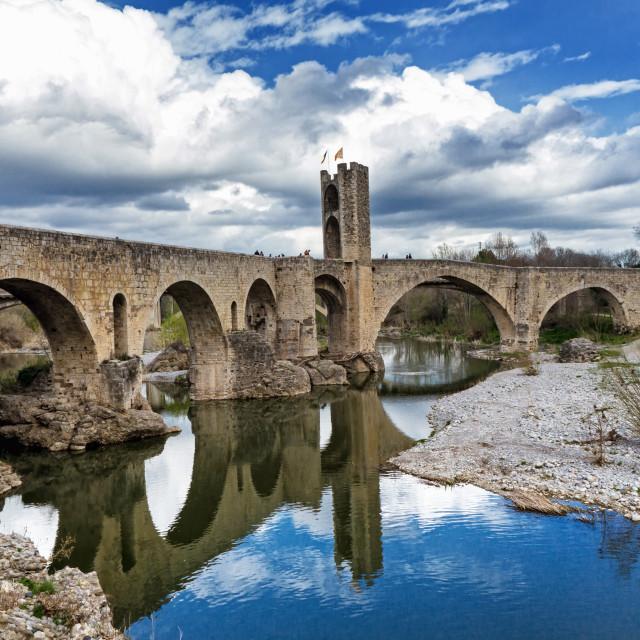 """""""Besalu, medieval village"""" stock image"""