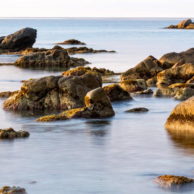 """Beautiful rocks in sunrise"" stock image"
