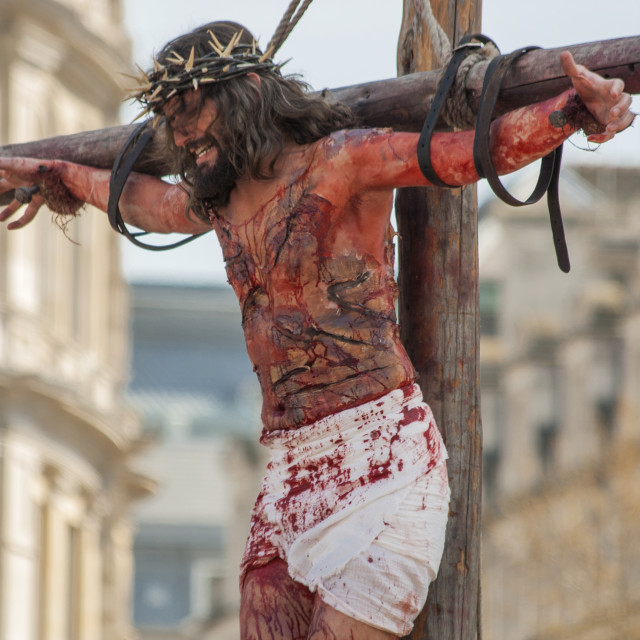 """""""The Crucifixion of Christ"""" stock image"""