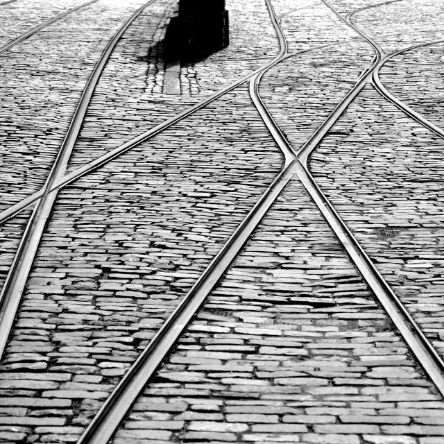 """Tram Yard"" stock image"