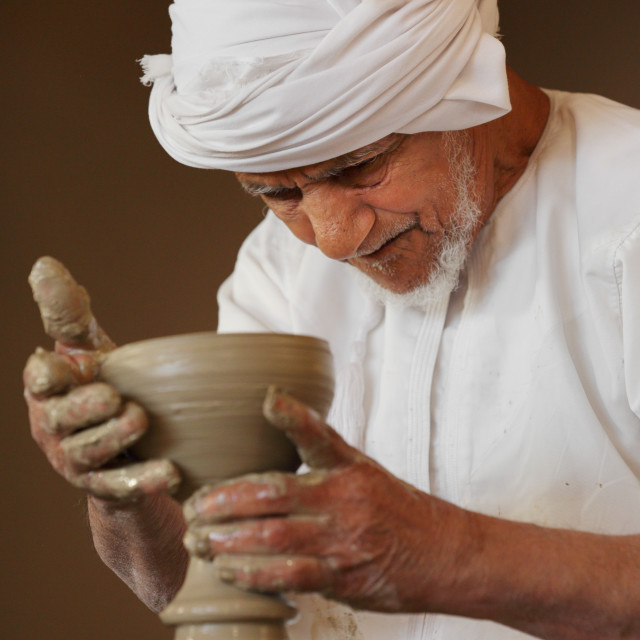 """Pottery in the Sultanate of Oman"" stock image"