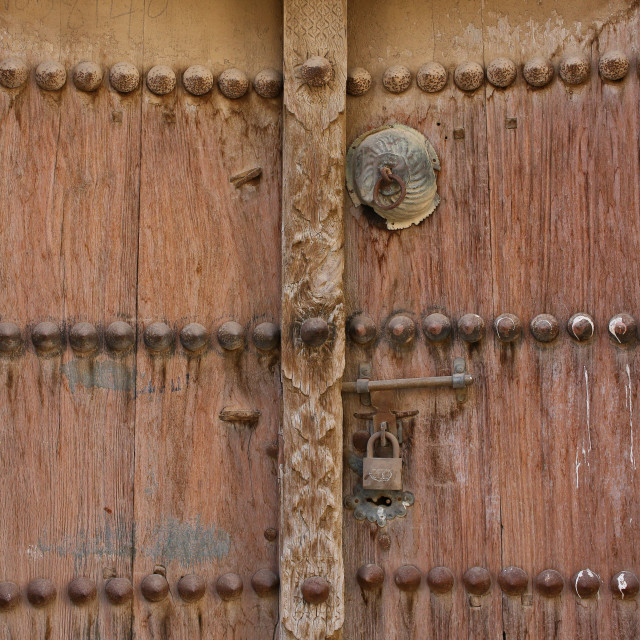 """Very old door"" stock image"