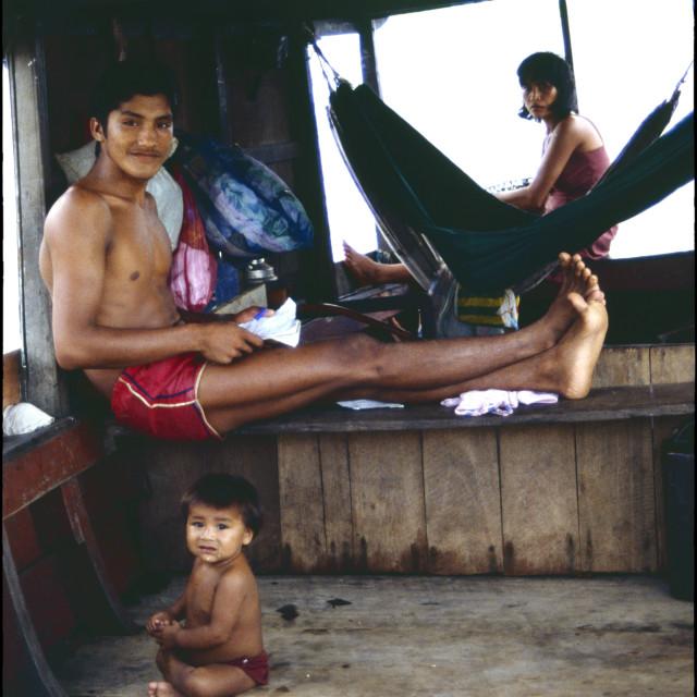 """""""The Amazon Houseboat"""" stock image"""